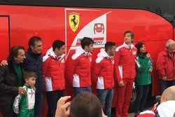 Emerson Fittipaldi, Giuliano Alesi, Charles Leclerc e Massimo Rivola