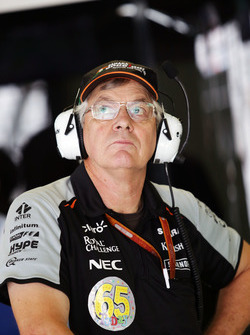 David 'Foggy' Fogden, Sahara Force India F1 Team, que está celebrando su cumpleaños 65