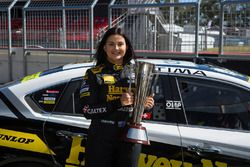 Renee Gracie, Harvey Norman Supergirls Nissan with the Peter Brock Trophy