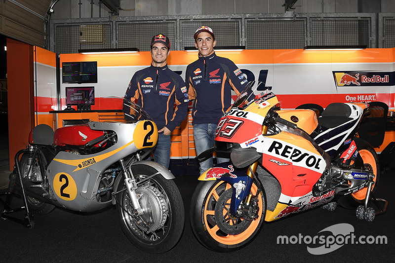 Dani Pedrosa, Repsol Honda Team, Marc Marquez, Repsol Honda Team with the Honda RC181 and the Honda