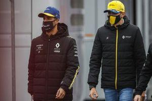 Daniel Ricciardo, Renault F1 y Esteban Ocon, Renault F1