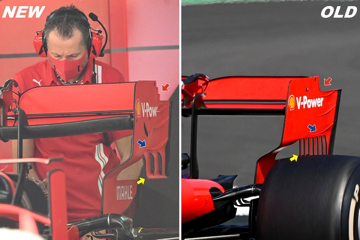 Ferrari SF1000: Heckflügel (neu/alt)