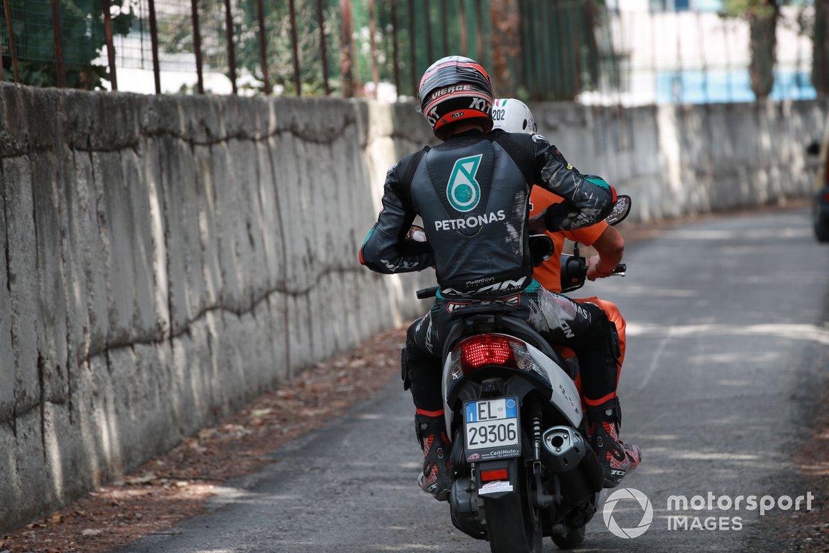 Xavi Vierge, SIC Racing Team dopo la caduta