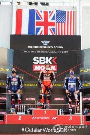 miMichael van Der Mark, Pata Yamaha, Chaz Davies, ARUBA.IT Racing Ducati, Garrett Gerloff, GRT Yamaha