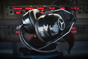Mercedes headset for Toto Wolff, Executive Director (Business), Mercedes AMG