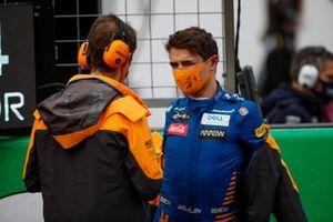 Lando Norris, McLaren , on the grid