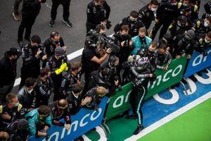 Lewis Hamilton, Mercedes-AMG F1, 1st position, celebrates in Parc Ferme
