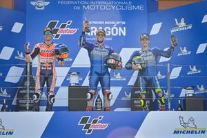 Podium: Race winner Alex Rins, Team Suzuki MotoGP, second place Alex Marquez, Repsol Honda Team, third place Joan Mir, Team Suzuki MotoGP