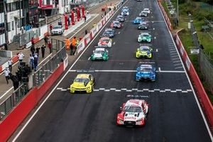 Start action, René Rast, Audi Sport Team Rosberg, Audi RS 5 DTM leads