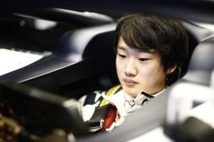 Yuki Tsunoda, Honda Formula Dream Project sits in his car