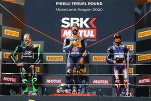 Lucas Mahias, Kawasaki Puccetti Racing, Andrea Locatelli, BARDAHL Evan Bros. WorldSSP Team, Isaac Vinales, Kallio Racing