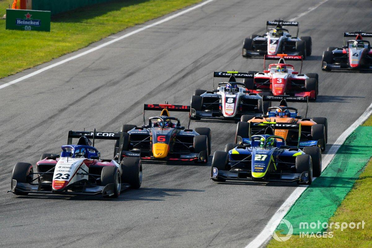 Roman Stanek, Charouz Racing System, Dennis Hauger, Hitech Grand Prix e David Schumacher, Carlin
