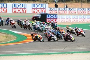 Start action, Raul Fernandez, Red Bull KTM Ajo leads