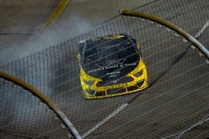 Brad Keselowski, Team Penske, Ford Mustang Western Star/Alliance Parts celebrates with a little burn out