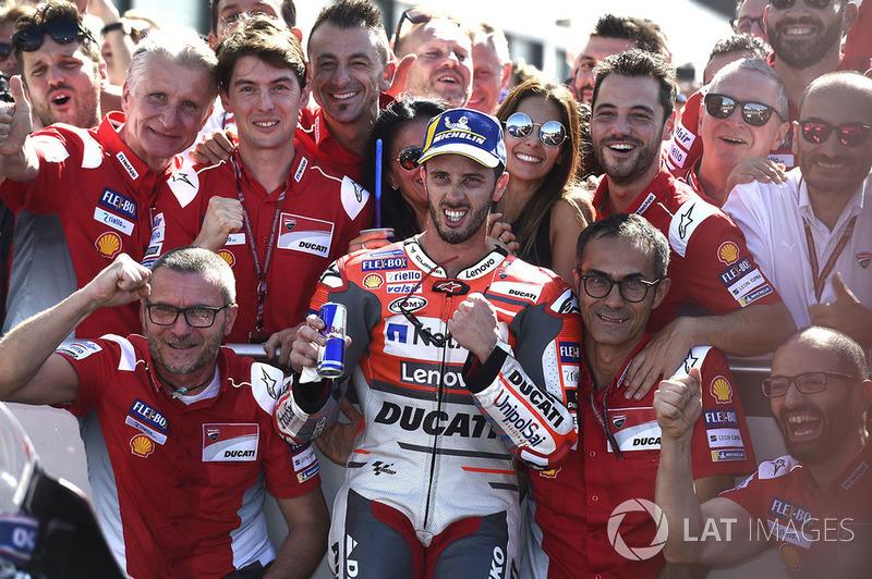 Il vincitore della gara Andrea Dovizioso, Ducati Team