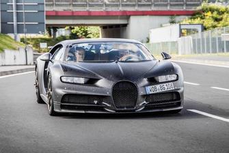 Bugatti Chiron en test sur le Nürburgring