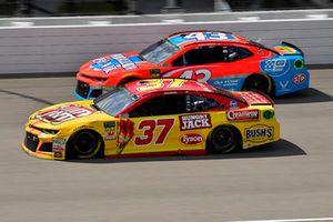 Chris Buescher, JTG Daugherty Racing, Chevrolet Camaro Slim Jim and Darrell Wallace Jr., Richard Petty Motorsports, Chevrolet Camaro Medallion Bank / Petty's Garage