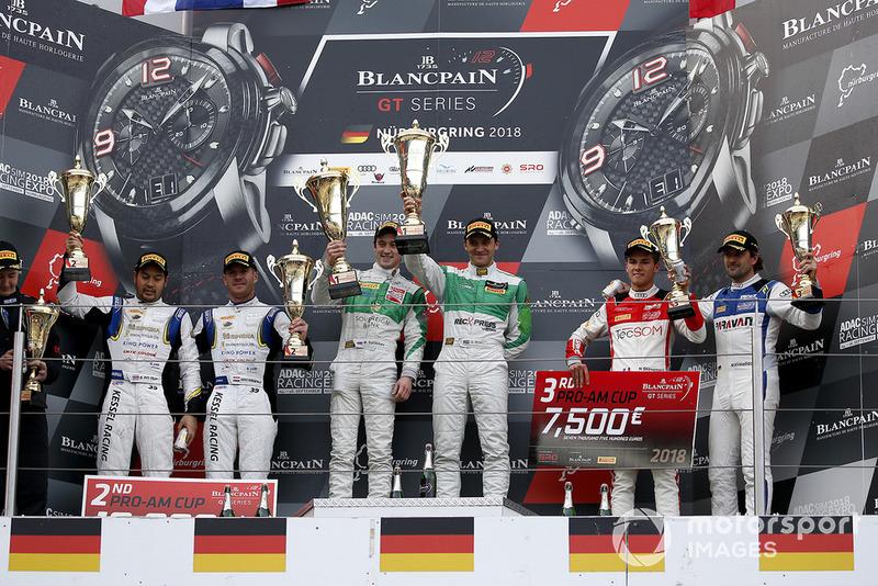 Podyum: Pro-AM: Yarış galibi #333 Rinaldi Racing Ferrari 488 GT3: Rinat Salikhov, David Perel, 2. #39 TP 12 - Kessel Racing Ferrari 488 GT3: Piti Bhirombhakdi, Carlo Van Dam, 3. #26 Sainteloc Racing Audi R8 LMS: Nyls Stievenart, Markus Winkelhock