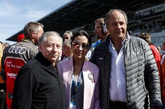Jean Todt, FIA President met zijn vrouw Michelle Yeoh en Gerhard Berger, ITR-voorzitter