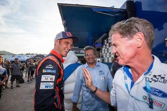 Thierry Neuville, Hyundai Motorsport with Malcolm Wilson, Team principal M-Sport