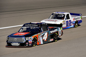 Todd Gilliland, Kyle Busch Motorsports, Toyota Tundra JBL/SiriusXM and Austin Hill, Young's Motorsports, Chevrolet Silverado Young's Building Systems/Randco