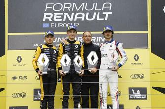 Podium: Race winner Christian Lundgaard, MP motorspor, second place Max Fewtrell, R-Ace GP, third place Lorenzo Colombo, JD motorsport