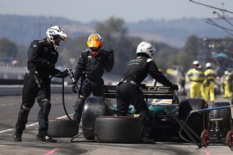 Alfonso Celis Jr., Juncos Racing Chevrolet, au stand