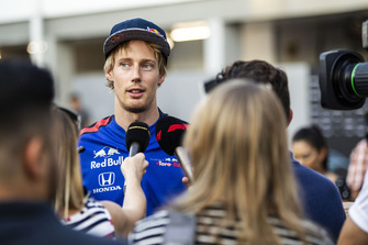 Brendon Hartley, Scuderia Toro Rosso est interviewé par les médias
