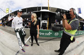 Graham Rahal, Rahal Letterman Lanigan Racing Honda, mit Katie Osborne