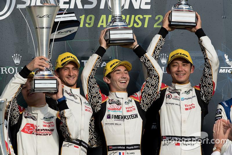 Podio LMP2: Ganadores, #38 Jackie Chan DC Racing Oreca 07 Gibson: Ho-Ping Tung, Gabriel Aubry, Stephane Richelmi