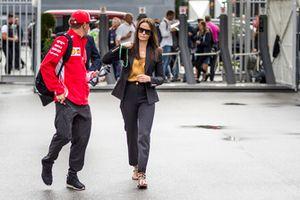 Kimi Raikkonen, Ferrari avec sa femme Minttu Virtanen