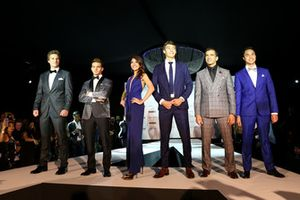 George Russell, Mercedes AMG F1 and Marc Gene, Ferrari at the Amber Lounge Fashion Show