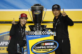 Champion team owner Shigeaki Hattori Brett Moffitt, Hattori Racing Enterprises, Toyota Tundra AISIN Group