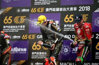 Podium: Race winner Peter Hickman, Aspire-Ho by Bathams Racing, BMW. second place Michael Rutter, Aspire-Ho by Bathams Racing, Honda, third place John McGuinness, Tak Chun Group by PBM, Ducati