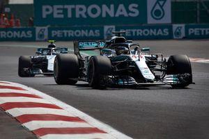 Lewis Hamilton, Mercedes AMG F1 W09 EQ Power+, et Valtteri Bottas, Mercedes AMG F1 W09 EQ Power+