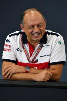 Frederic Vasseur, director de Sauber en rueda de prensa