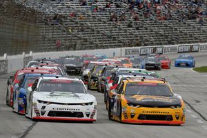 Paul Menard, Wood Brothers Racing, Ford Fusion Menards / Cardell, Tyler Reddick, JR Motorsports, Chevrolet Camaro BurgerFi