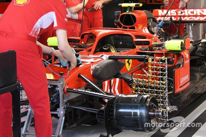 Ferrari SF71H team front detail