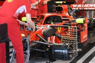 Equipo Ferrari SF71H detalle frontal