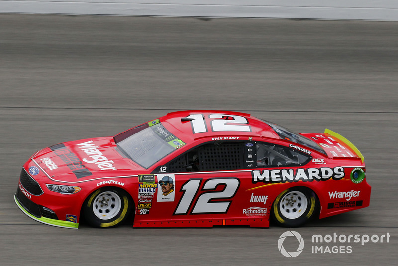 4. Ryan Blaney, Team Penske, Ford Fusion Menards/Wrangler Riggs Workwear