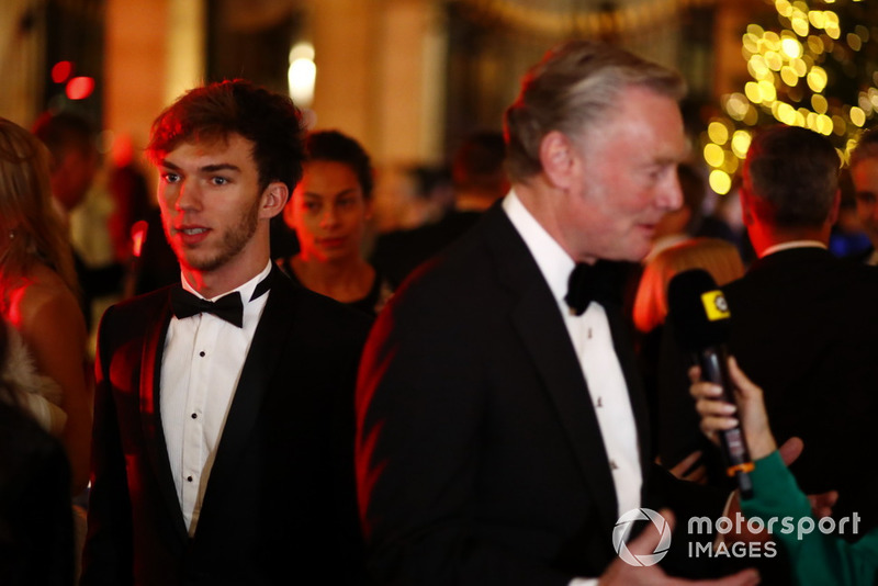Pierre Gasly and Sean Bratches on the red carpet