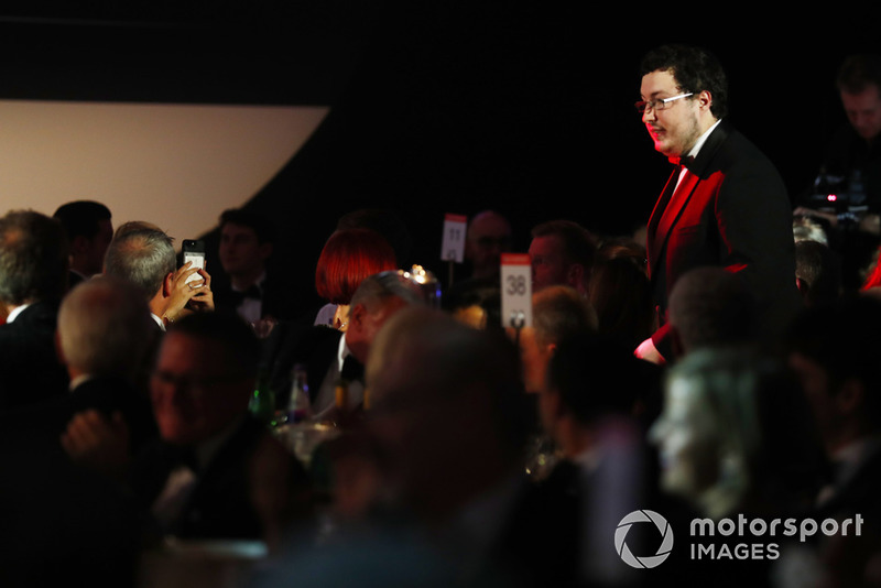 "Il vincitore dell'""Autosport Williams Engineer of the Future Award"", Owen Heaney"