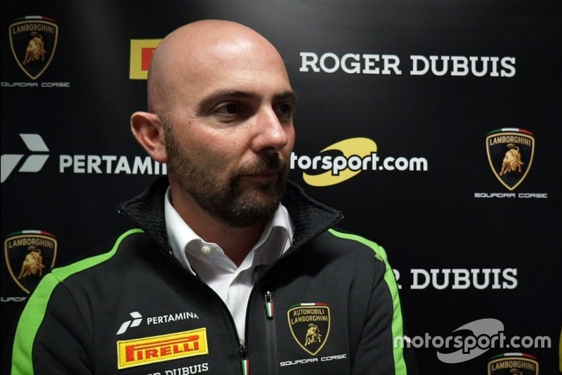 Giorgio Sanna, Head of Motorsport Lamborghini