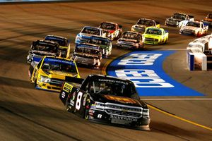 John Hunter Nemechek, NEMCO Motorsports, Chevrolet Silverado Hostetler Ranch / Stonefield Home and Grant Enfinger, ThorSport Racing, Ford F-150 Protect The Harvest/Curb Records