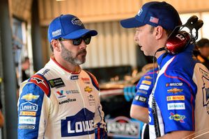 Jimmie Johnson, Hendrick Motorsports, Chevrolet Camaro Lowe's Power of Pride and Chad Knaus