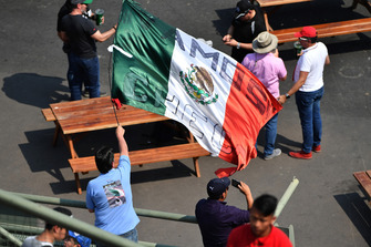 Fan and flag