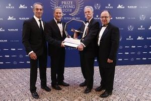 Alejandro Soberon and Federico Gonzalez Compean, Mexican Grand Prix promoters with Chase Carey, Chief Executive Officer and Executive Chairman of the Formula One Group