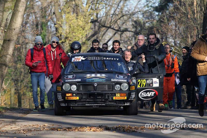 """""""Lucky"""" e Fabrizia Pons, Lancia Delta"""