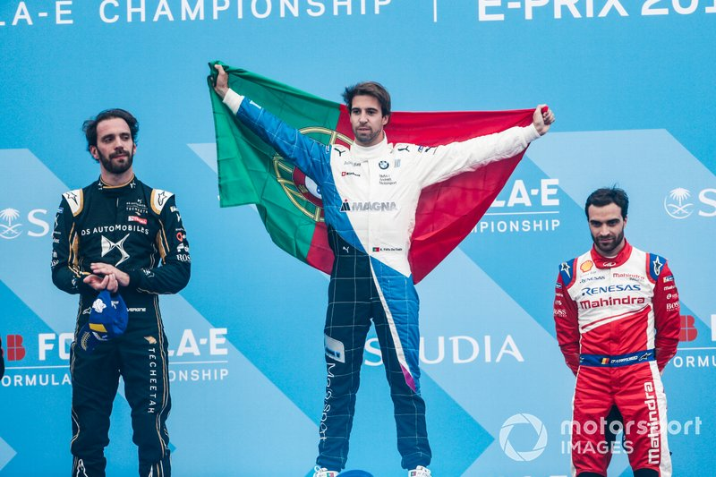 Podium: race winner Antonio Felix da Costa, BMW I Andretti Motorsports, second place, Jean-Eric Vergne, DS TECHEETAH, third place, Jérôme d'Ambrosio, Mahindra Racing
