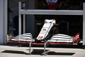 Dettaglio ala anteriore dell' Alfa Romeo Racing C41